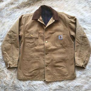 Carhartt duck chore coat men's jacket tan